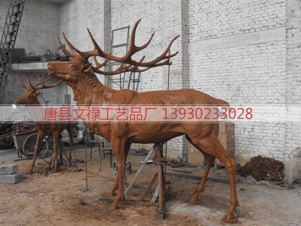 铜鹿雕塑_铜鹿雕塑厂家_梅花鹿雕塑_动物雕塑