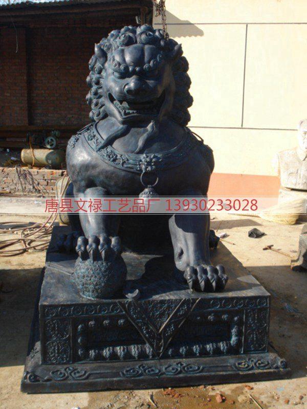 铜狮子_铜狮子雕塑_唐县文禄专业制作铜狮子雕塑